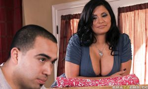 Sexy big titted Sophia Lomeli came up with the idea to fuck hunk just for fun