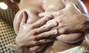 Lovable blond cutie Kelly Madison with a wet chick pot is lying and deepthroating like a pro