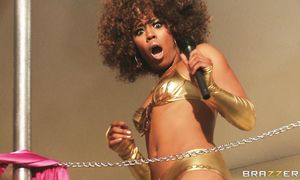 Stare at sultry Misty Stone with nice body bounding on knob