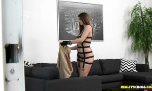 Brown-haired Brooklyn Chase is sex appeal and her body is perfect and hawt
