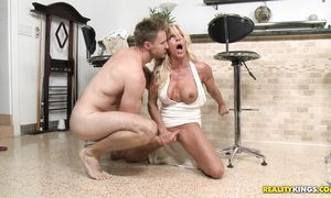 Startling blond Gina West is in need of man?s thick fuck stick
