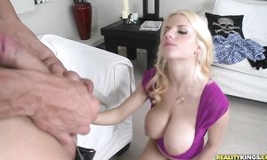 After getting bonked hardcore mischievous Haley Cummings gets her portion of jizz