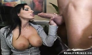 Hawt Veronica Rayne is gently rubbing fellow's dinky and the fucking