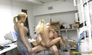 Sugary sweetheart Ravon gets roughly plowed by a hung biker