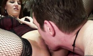 Hot-tempered big titted Nyssa is making love with a stranger she likes a lot